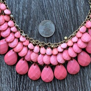 Jewelry - Pink and Gold Statement Necklace